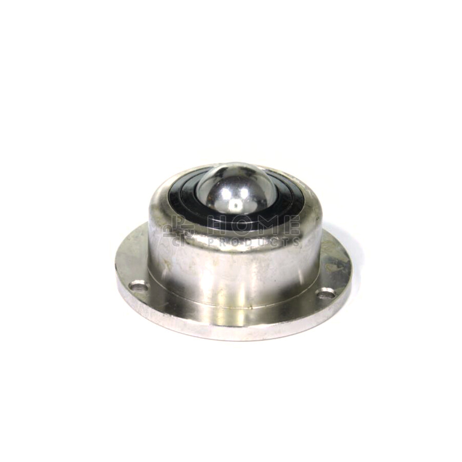 Ball Transfer Unit, 30.16 mm, with mounting holes, flange and spring, for heavy load