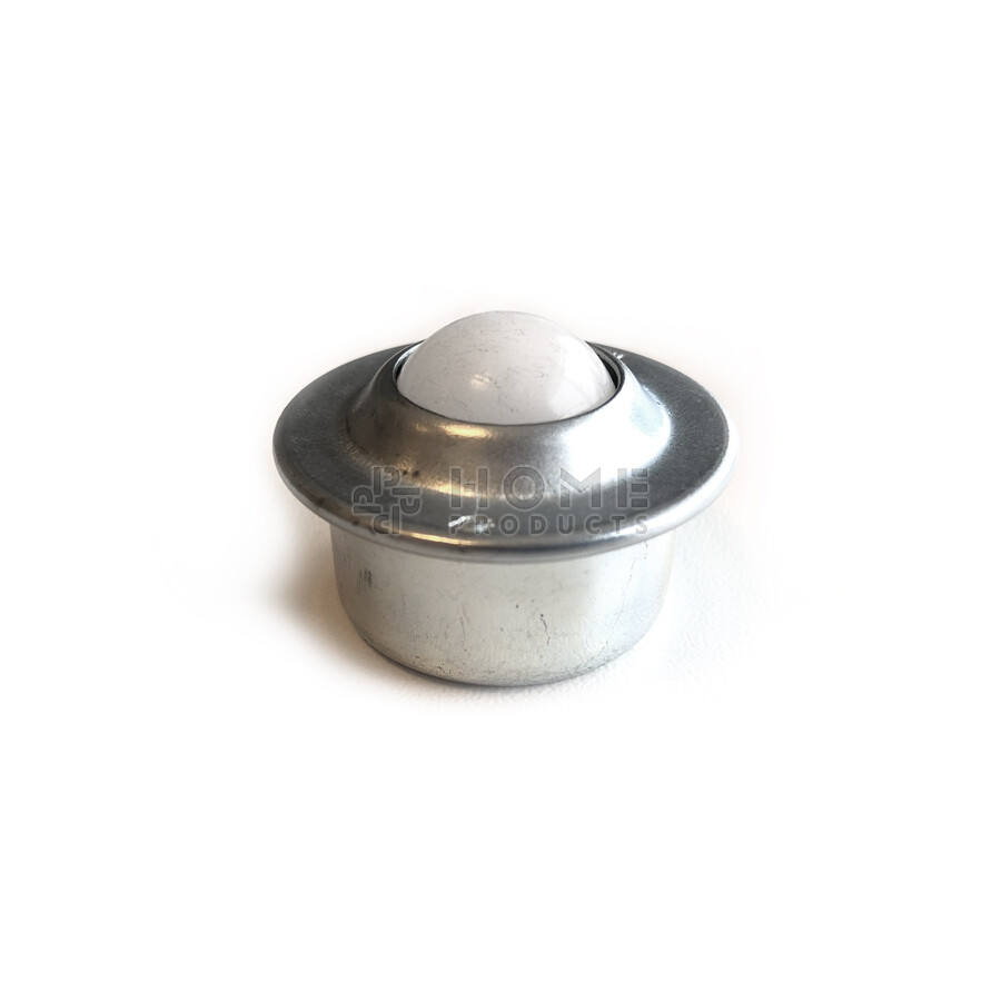 Ball Transfer Unit, 15.875 mm, with flange and a Nylon ball
